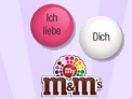 Personalisierte M&M's - Individuelle Liebeserklärung
