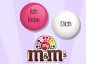 Personalisierte M&M's -Individuelle Liebeserklärung